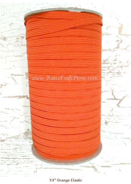 "1/4"" Orange Elastic --- ZIBBET"