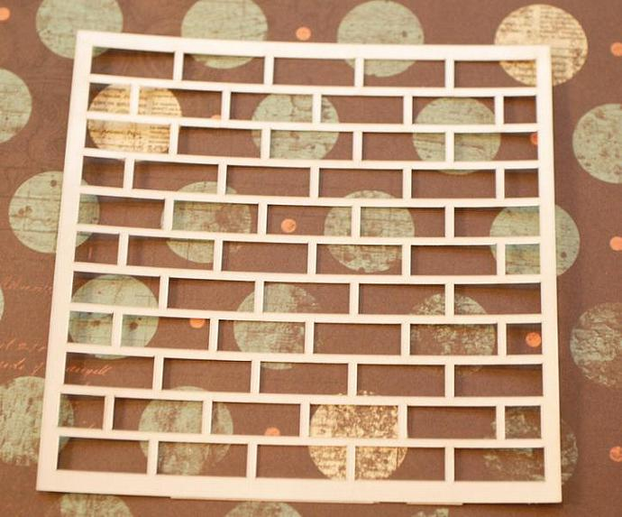 4x4 Brick Wall Stencil No 1 By Sacrafters On Zibbet