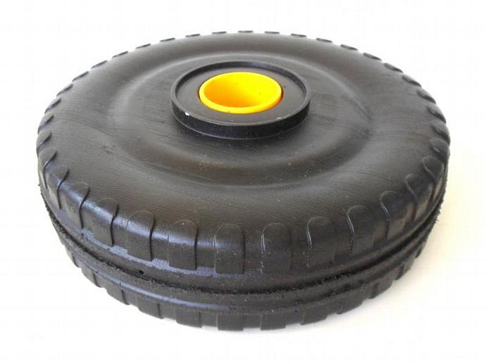 Playskool Pipeworks Wheels Tire Replacement Parts Black Yellow Plastic vintage