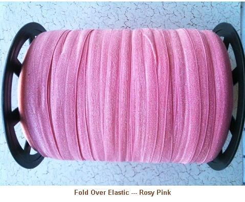 Fold Over Elastic - Rosy Pink --- ZIBBET