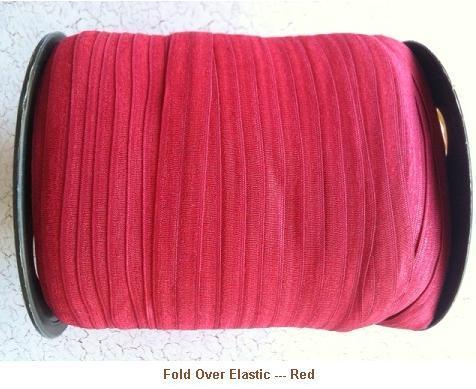 Fold Over Elastic - Red --- ZIBBET