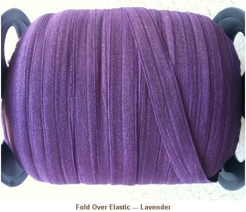 Fold Over Elastic - Lavender --- ZIBBET