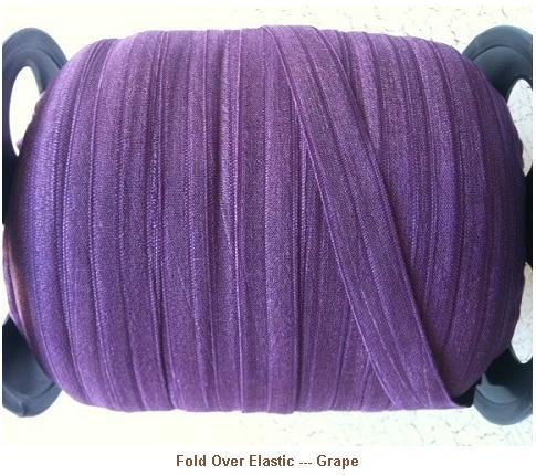 Fold Over Elastic - Grape --- ZIBBET