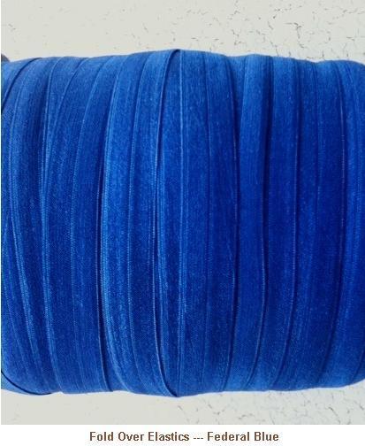 Fold Over Elastic - Federal Blue --- ZIBBET