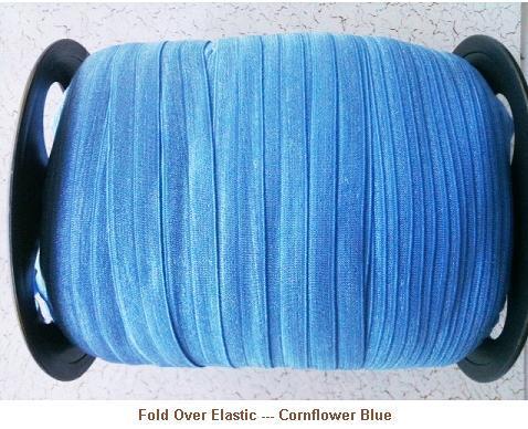 Fold Over Elastic - Cornflower Blue --- ZIBBET