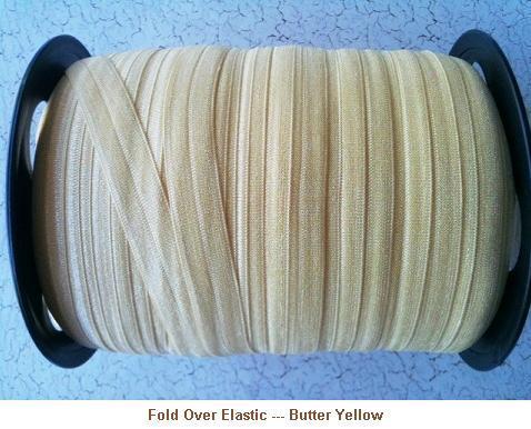 Fold Over Elastic - Butter Yellow --- ZIBBET