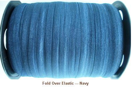 Fold Over Elastic - Navy --- ZIBBET