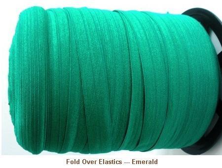 Fold Over Elastic - Emerald --- ZIBBET