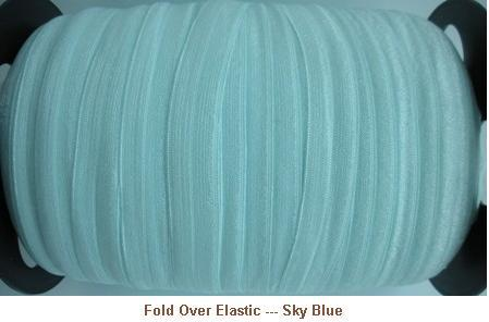Fold Over Elastic - Sky Blue --- ZIBBET