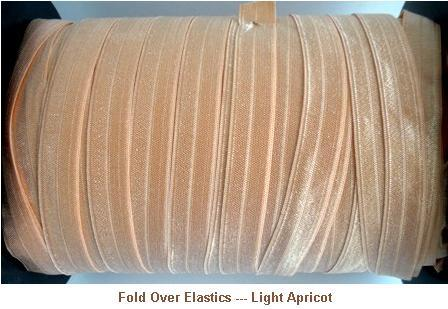 Fold Over Elastic - Light Apricot --- ZIBBET