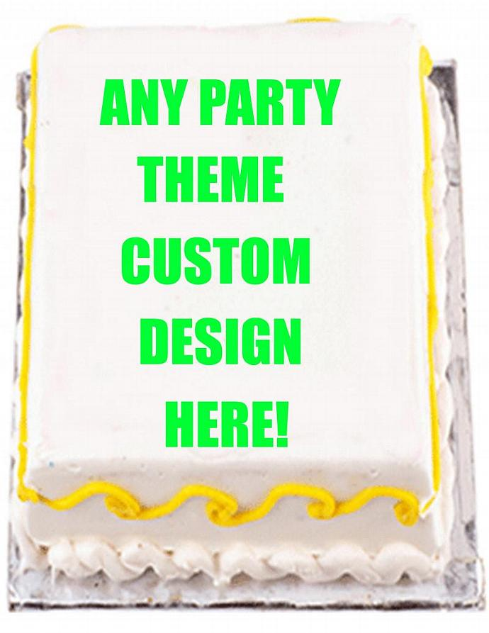 Design Your Own 1/4 sheet Cake Toppers