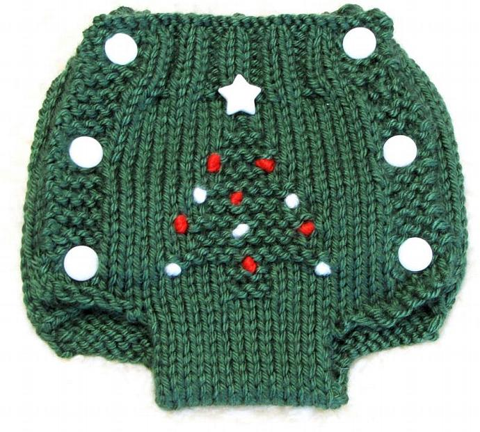 Diaper Cover Knitting Pattern Christmas Tree By Ezcareknits On