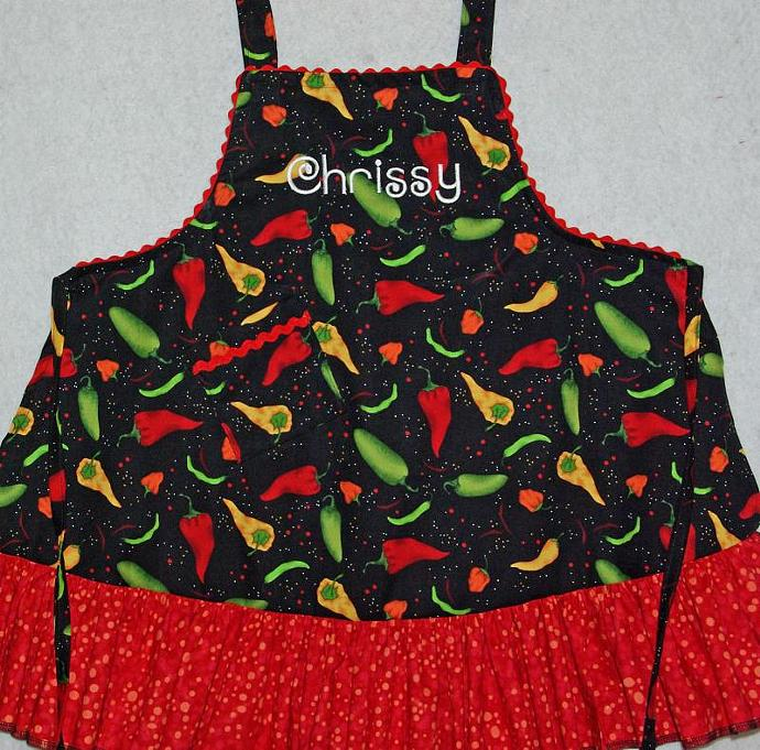 Chili Peppers Little Gir's Apron