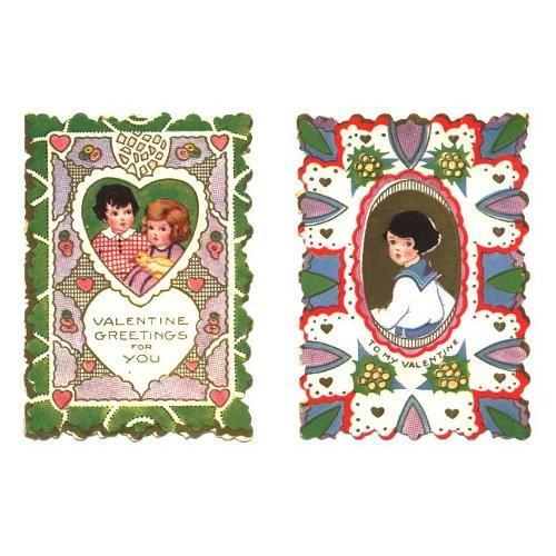 Vintage Valentine Cards Whitney Made Girl Boys Lot of 2