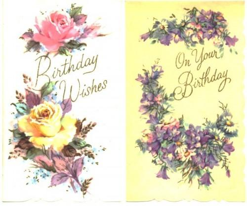 2 Birthday Greeting Cards Roses By Sandycreekcollectables On Zibbet