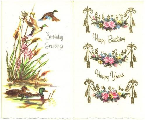 Vintage Birthday Greeting Cards By Sandycreekcollectables On Zibbet