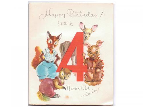 Vintage 1940s Birthday Card By Sandycreekcollectables On Zibbet