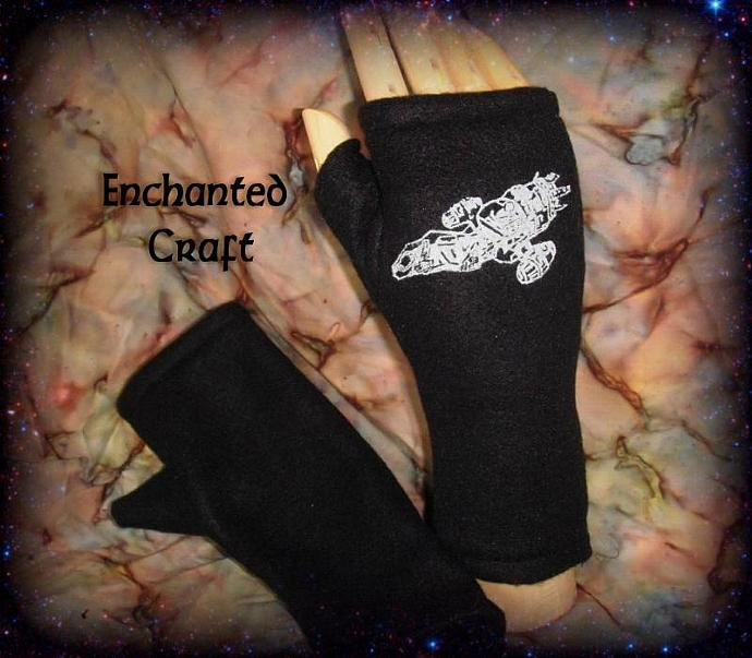 Fleece Firefly Serenity Fingerless Gloves