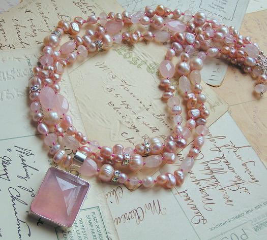 Prettiest Pink - Multi-Strand Necklace