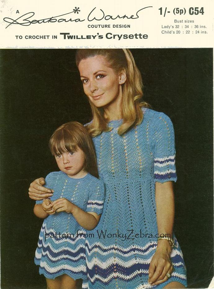 Vintage Crochet Pattern 005 Mother And Daughter By Wonkyzebra On