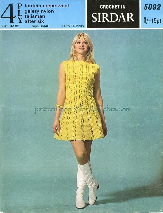 Vintage Crochet Pattern PDF 078 Dolly Rocker Dress from WonkyZebra