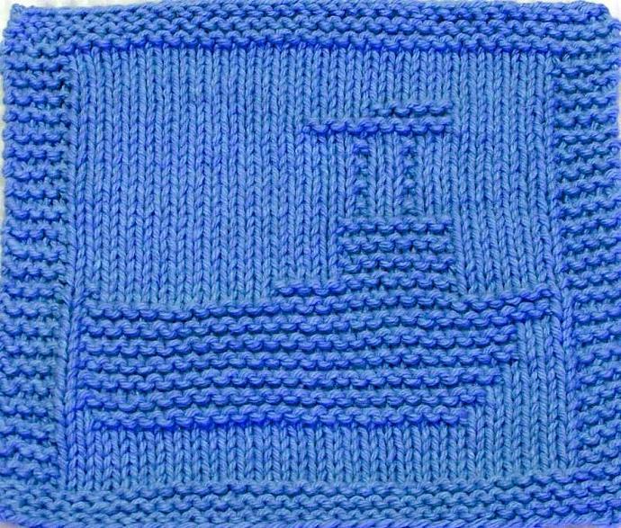 Knitting Cloth Pattern - FISHING BOAT - PDF