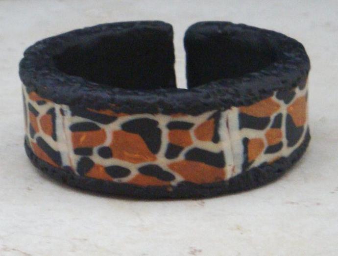 Animal Print Polymer Clay Wrist Cuff