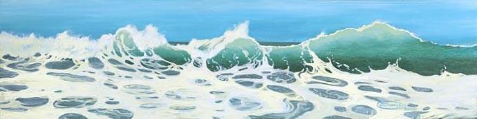 """Aqua Mar"" Giclee Paper Print by Carol Thompson"
