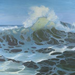 """Here Comes A Big One"" Giclee Paper Print by Carol Thompson"