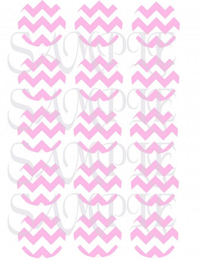 "Pink Chevron 2"" Cupcake/Cookie Toppers"