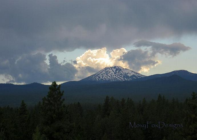 Art -- HIGH DESERT STORM  Fine Art Photograph Bend, Oregon 8 x 10 Mount Bachelor