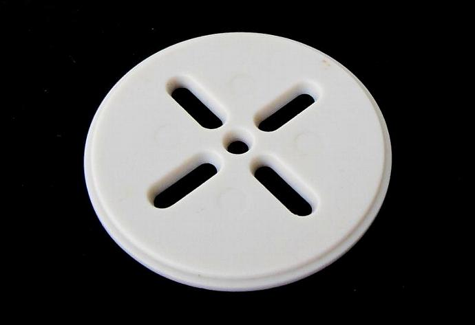 "Wilton Cookie Press Disk 3 Replacement Part - 2"" Diameter, White Plastic"