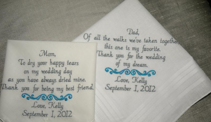 Two Personalized Embroidered Wedding Canyonembroidery