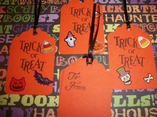 Half Off School Halloween Hang Tags Assortment/20ct
