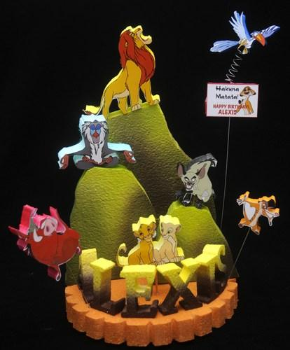 The Lion King Cake Topper Centerpiece By Adianezh On Zibbet