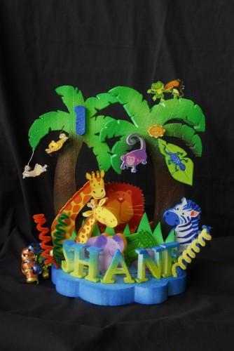 JUNGLE ANIMALS CAKE TOPPER CENTERPIECE