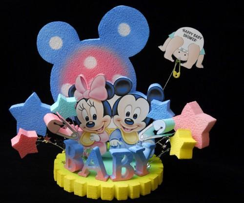 Baby Shower Mickey And Minnie Mouse Cake Topper By Adianezh On Zibbet