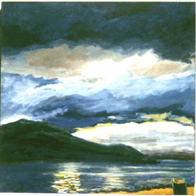 Fijord View II (A Norwegian Landscape)