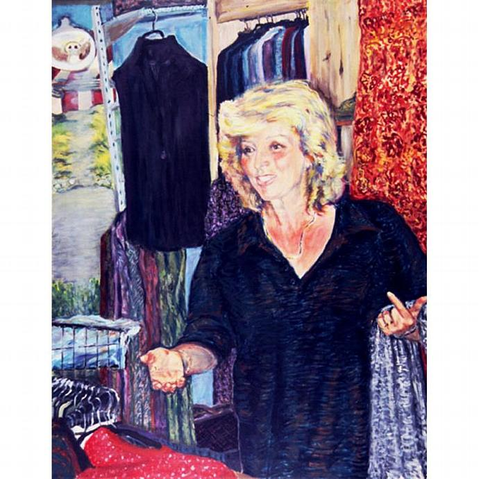 Jorunn's Shop At Balestrand (A Norwegian Portrait)