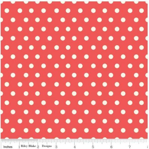 "Riley Blake Designs ""Marguerite"" by Cythia Walker. 100% cotton, Red-Dot 1 yard -"