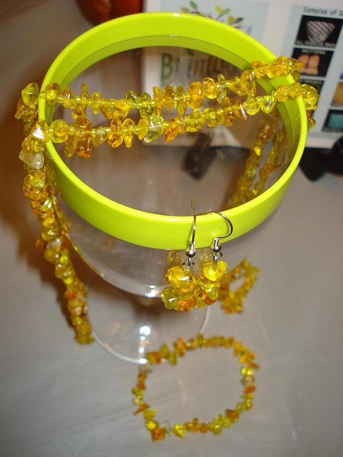 Sunshine Necklace, Bracelet & Earring set