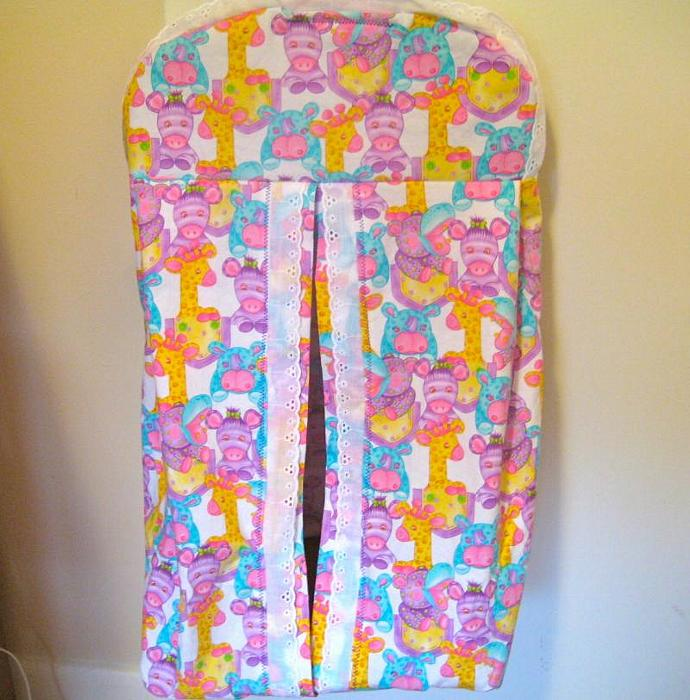 Pastel Zoo Diaper Stacker
