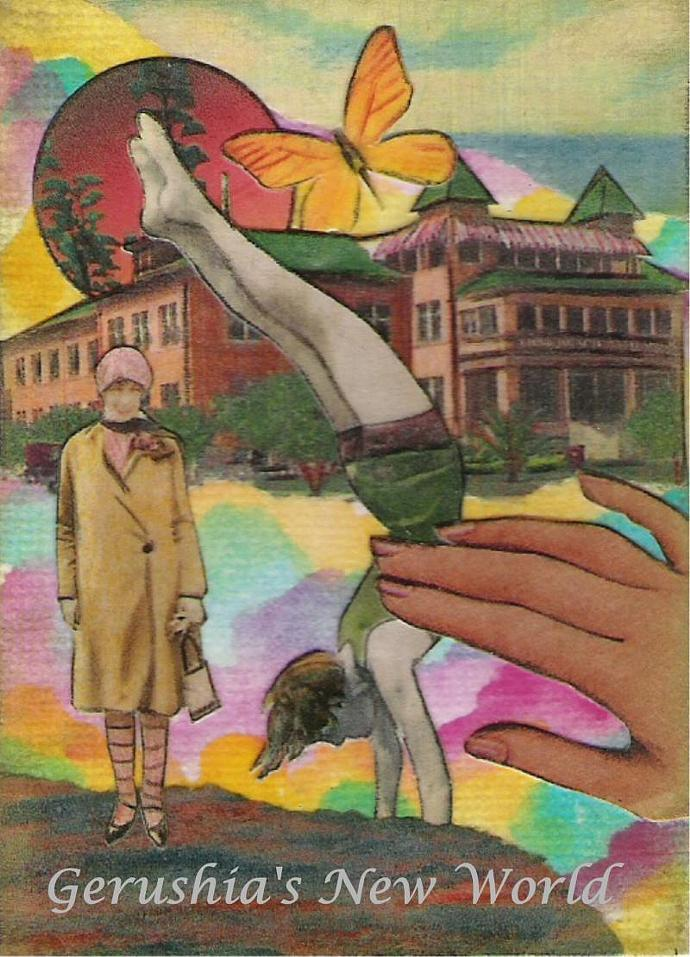 The Guardian Series  ~ ACEO Watercolor Collage 4 Print Set