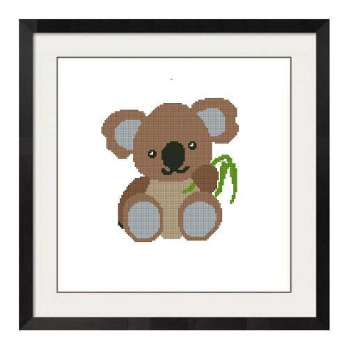ALL STITCHES  - BABY KOALA BEAR CROSS STITCH PATTERN .PDF -670