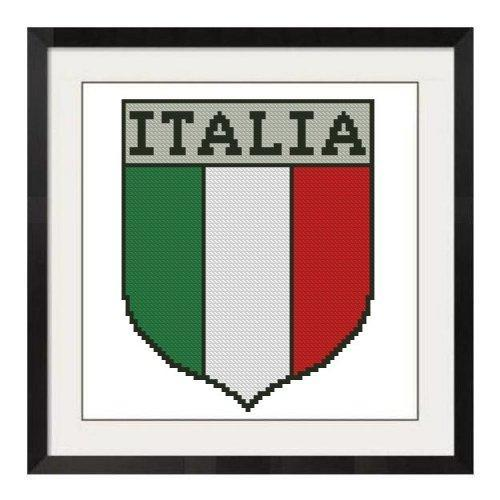 ALL STITCHES - SMALL ITALIAN SHIELD CROSS STITCH PATTERN .PDF -459