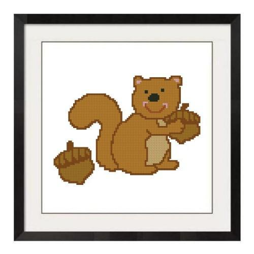 ALL STITCHES - SQUIRREL CROSS STITCH PATTERN .PDF -171