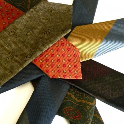 Vintage Ties - Set of 7 - Silk and Polyester