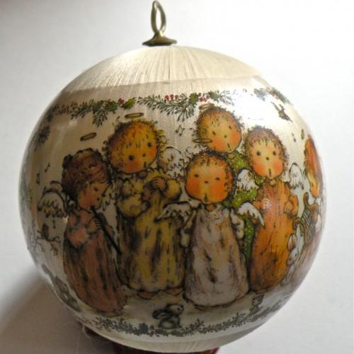 Vintage Satin Ball Ornament, Hallmark 1979