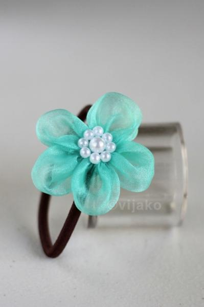 Tiffany blue Ume blossom ponytail holder set
