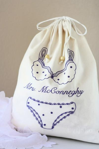 Personalized lingerie bag - Choose your color